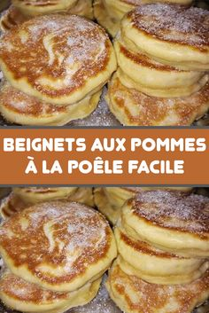 Dessert Recipes - New ideas Beignets, Breakfast Recipes, Dessert Recipes, Desserts With Biscuits, Fried Apples, Thermomix Desserts, Apple Fritters, Love Food, Sweet Recipes