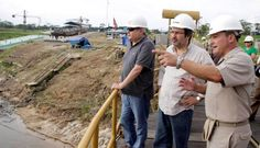 Ministros #JuanJiménez y #PedroCateriano supervisaron la labor de la Marina en #Iquitos [FOTOS]
