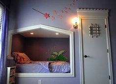 little girl princess bedroom alcove bed