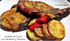 VideoReceta de estas increibles Chuletas de Lomo con Membrillo y Manzana. #propoints #entulinea