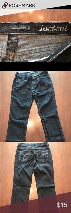"Calvin Klein Boot Cut Jeans ""Like New"" Dark Wash Calvin Klein Size 2 Boot Cut Jeans. Wore Maybe Once EUC Calvin Klein Jeans Jeans Boot Cut"