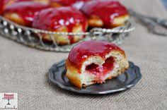 Domowa cookierenka Agi: Pączki z owocowym lukrem