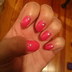 Manicure  with the best top coat.