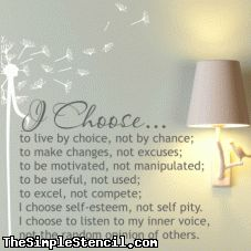I Choose Wall Lettering Decal | Values Quote | The Simple Stencil