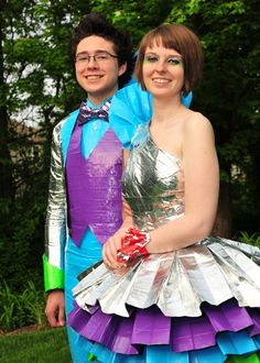 Entry for the 2011 Stuck at Prom Scholarship Contest. Students wear duct tape to prom to compete for a chance to win cash for college. http://stuckatprom.com/?utm_campaign=stuck-at-prom-general&utm_medium=social&utm_source=pinterest.com&utm_content=duct-tape-prom-fashion