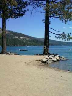 Donner Lake Property Owners Beach, in Truckee, California.