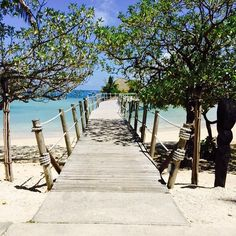 The path to paradise... Captured at Likuliku Resort by @donna.o