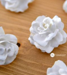 Plaster Dipped Artificial Flowers- could be pretty for a wedding