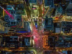 Jeffrey Milstein - NYC. Fotografia aerea NY. Paisajes de la modernidad. Geometria arquitectonica de la ciudad. Luces de Nueva York. Vista aerea. #iconocero