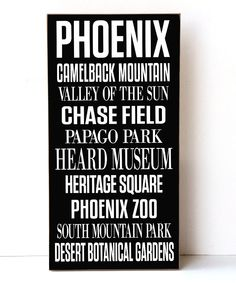 Phoenix Subway Wall Sign by Vinyl Crafts #zulily #zulilyfinds