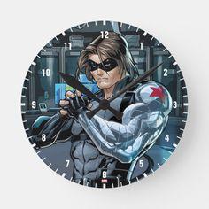 Marvel Avengers, Marvel Comics, Bucky Barnes Captain America, James Barnes, Winter Soldier, Hand Coloring, Character Art, Comic Books, Clock