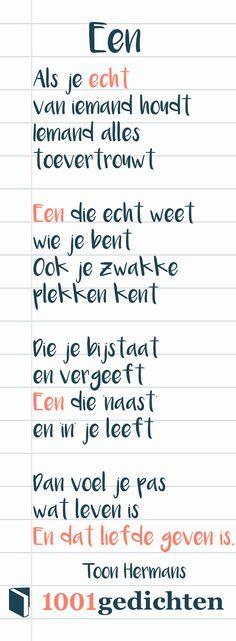 Toon Hermans gedicht. Gedicht over liefde, gedicht over vriendschap, gedicht over naasten.