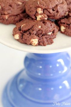 Double Chocolate Peanut Butter and White Chocolate Chip Cookies by Picky Palate