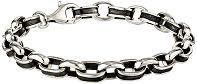 #MensStyle #Bracelets Zina Sterling Silver Oxidized Oval Men's Link Bracelet