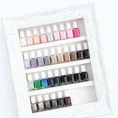 This frame of essie polishes is picture perfect.