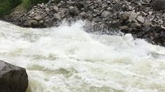 Slow motion shows power of the Payette River. I still don't want to kayak it. #ronspomeroutdoors #springrunoff #idaho #scary #rivers #payetteriver #waves #whitewater #foam