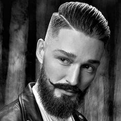 Mens Hairstyles With Beard, Undercut Hairstyles, Hair And Beard Styles, Haircuts For Men, Short Hair Styles, Beard Haircut, Fade Haircut, Hard Part Haircut, Low Skin Fade