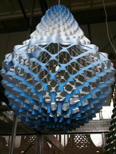 Beautiful paper lamp at Dutch Design Week 2011