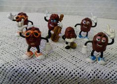 Vintage 1980's California Raisins MiniFigurines by nikylee on Etsy