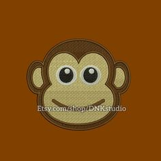 Monkey Face Embroidery Design - 5 Sizes - INSTANT DOWNLOAD   This design manually made by hand, from start to finish. It is a digitized embroidery design for a buyer who has an embroidery sewing machine.  https://www.etsy.com/listing/491444712/monkey-face-embroidery-design-5-sizes  #stitch #digitized #Sewing #Needlecraft #stitches #Embroidery #Applique #EmbroideryDesign #pattern #MachineEmbroidery #cute #Monkey #Face #animal