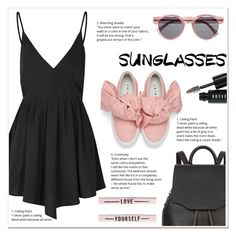 """Sunglasses"" by ladydzsen ❤ liked on Polyvore featuring Glamorous, Illesteva, rag & bone, Joshua's, Bobbi Brown Cosmetics and RetroSunglasses"
