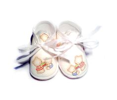 Baby Shoes Bears Pastel Spring Soft Soled Baby Shoes by Hopphopp
