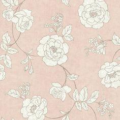 """Serene 33' x 20.5"""" Rose 3D Embossed Wallpaper"""