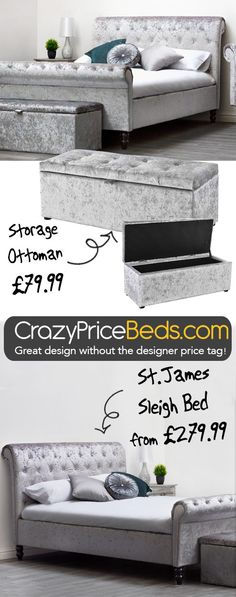 Create a bedroom of opulence and elegance at crazypricebeds.com