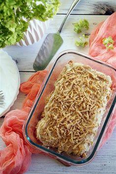 Sütés nélküli gesztenyetorta Coconut Flakes, Deserts, Spices, Baking, Cake, Sweet, Food, Bread Making, Pie Cake