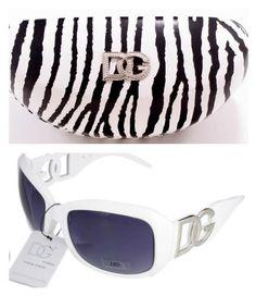 DG Eyewear White Sunglasses & 1 Zebra DG Case JE36162W + Free Micro Fiber Bag DG Eyewear. $10.63. Save 76%!