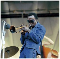 Miles Davis performs on stage at the Newport Jazz Festival held in Newport, Rhode Island on July 04, 1969 (c) David Redfern