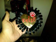 Homecoming mum trinket, cute idea for cheerleading Christmas ornaments! :)