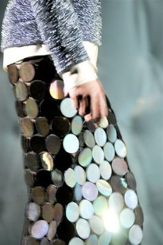 Time to reflect.  #metallic #fashion