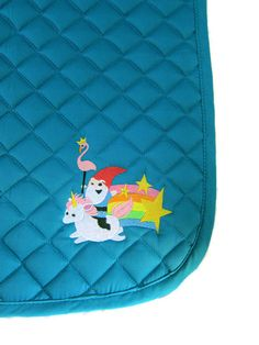 Crazy English Saddle Pad Teal with by SecretPassageCouture