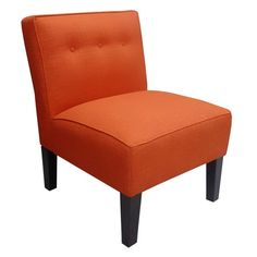 I pinned this Patrine Accent Chair in Tangerine from the Soft Spot event at Joss and Main!