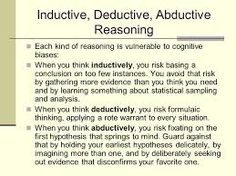 crt 205 deductive reasoning essay Check out our top free essays on deductive arguments to help you write your own essay brainiacom join now login crt 205 ver 8 week 1 how bias influences.