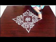 beginners kolam designs with 3x3 dots- muggulu designs for beginners- easy rangoli designs with dots - YouTube