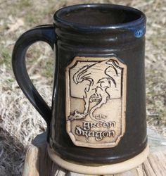 Green Dragon mug Hobbit Lord of the Rings tankard by FunctionalMud