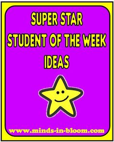 FREEBIE! Star Student of the Week. There are activities for each ...