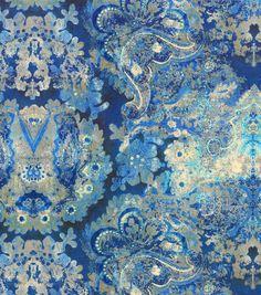 Upholstery Fabric-Tracy Porter Enchantress Sapphire