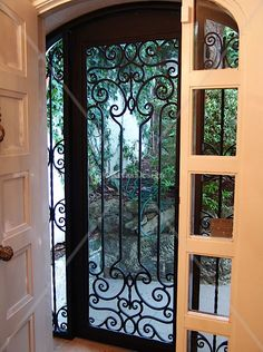 screen doors with wrought iron - Google Search