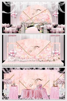 Beautiful romantic pink marble wedding background planning model#pikbest#decors-models Wedding Stage Design, Wedding Stage Decorations, Head Table Backdrop, Valentine's Day Poster, Backdrop Design, Wedding Background, 3d Models, Pre Wedding Photoshoot, Pink Marble