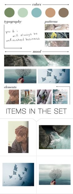 """""""Merman Taehyung"""" by velvet-nightmare ❤ liked on Polyvore featuring art"""