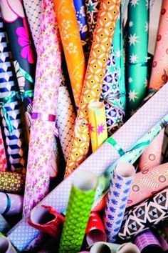 lots and lots of wrapping paper!