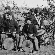 New York Drummer Boys of the 61st N.Y. Infantry. (March 1863).