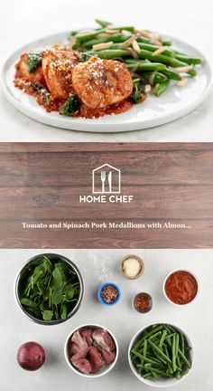 Pork Tenderloin Medallions, Green Beans With Almonds, Cooking Temperatures, 15 Minute Meals, Recipe Steps, Vegetarian Options, Home Food, Home Chef, Food Safety