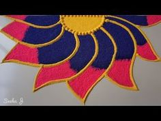 Very simple and beautiful rangoli design Easy Rangoli Designs Diwali, Best Rangoli Design, Rangoli Simple, Indian Rangoli Designs, Rangoli Designs Latest, Latest Rangoli, Small Rangoli Design, Colorful Rangoli Designs, Rangoli Designs Images