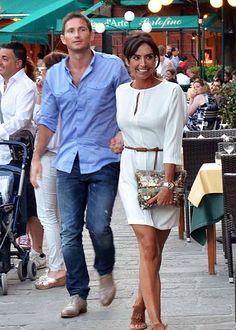 Chelsea footballer Frank Lampard and his fiancée, tv presenter Christine Bleakley