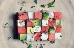 Watermelon Avocado Summer Salad