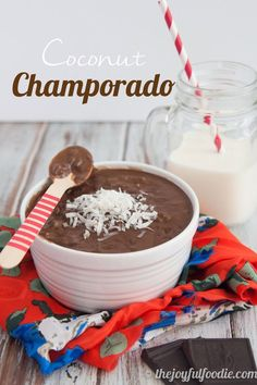 Chocolate for breakfast. This Champorado is like chocolate rice pudding, only not quite as sweet and with a hint of coconut, making it the perfect hearty dish to start your day. #glutenfree #dairyfree